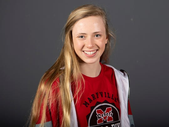 Julia Burroughs, Maryville High School swimming. Monday, March 4, 2019.