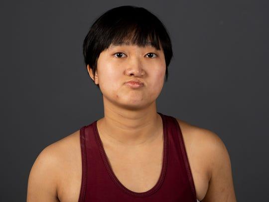 "Anna ""Teagan"" Fisher, Alcoa High School wrestling. Tuesday, March 5, 2019."