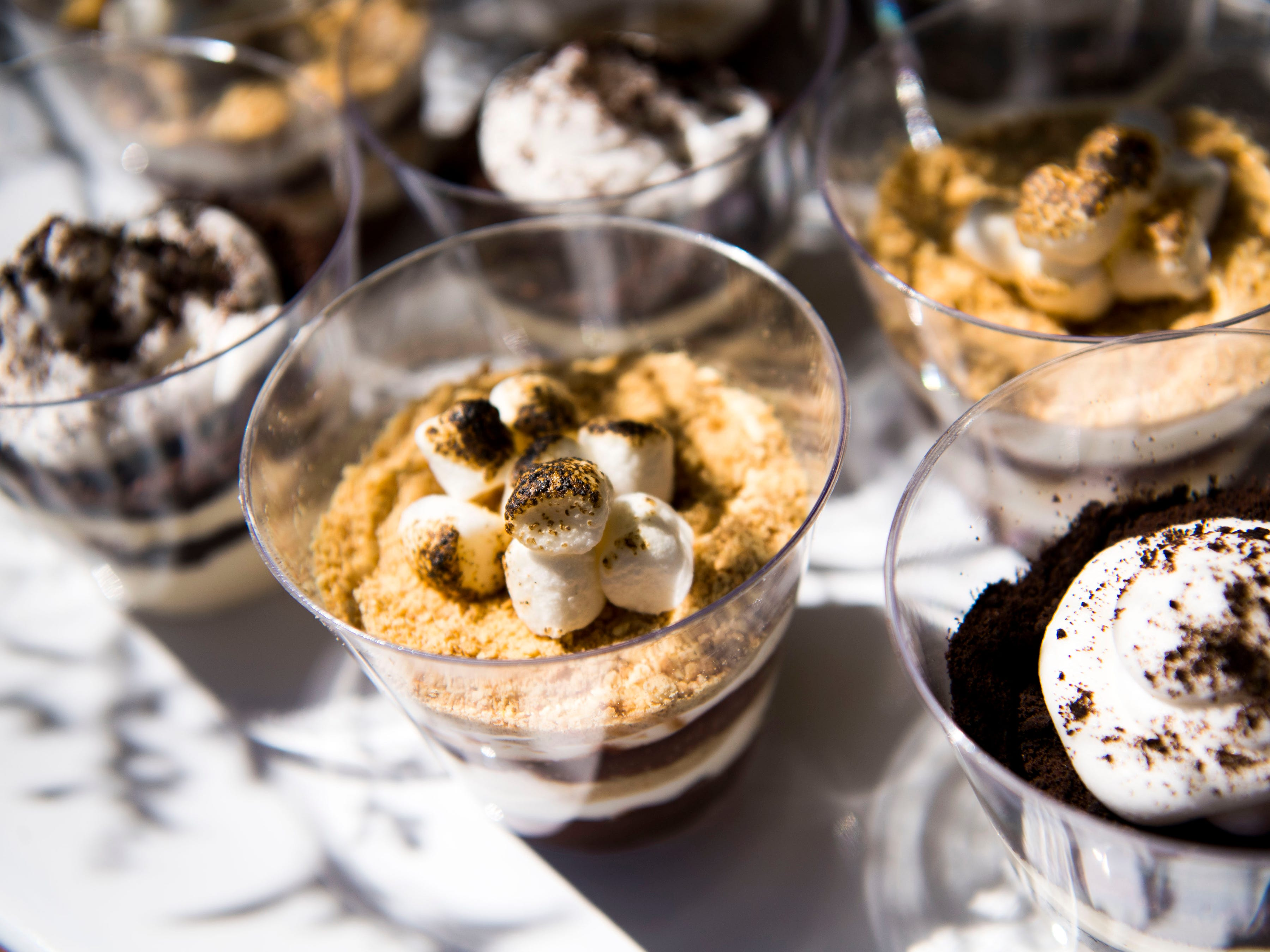 Dessert parfaits made by The Sugar Queen food truck on Saturday, March 30, 2019.