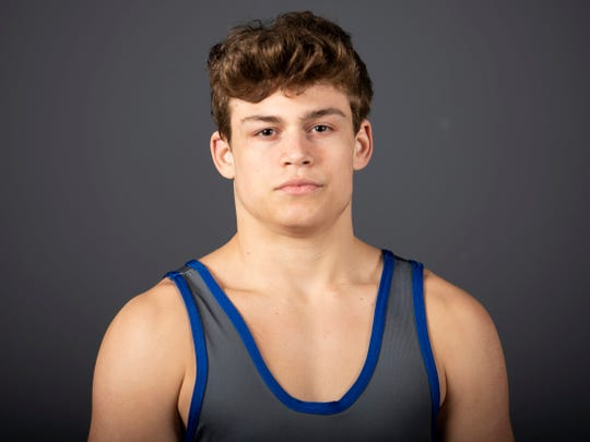 Gavin Cagle, Christian Academy of Knoxville wresting. Tuesday, March 5, 2019.