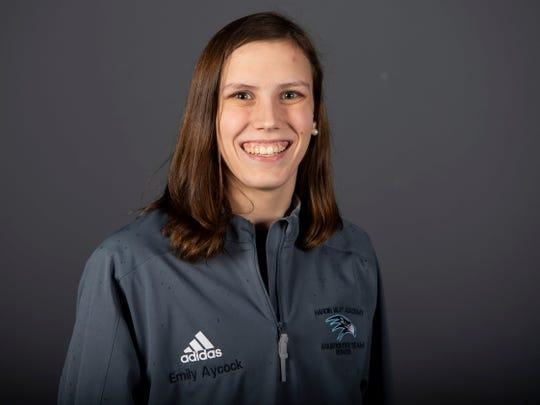 Emily Aycock of Hardin Valley Academy swimming. Thursday, February 28, 2019.