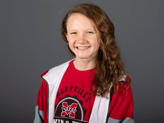 Kelly Wetteland, Maryville High School swimming. Monday, March 4, 2019.