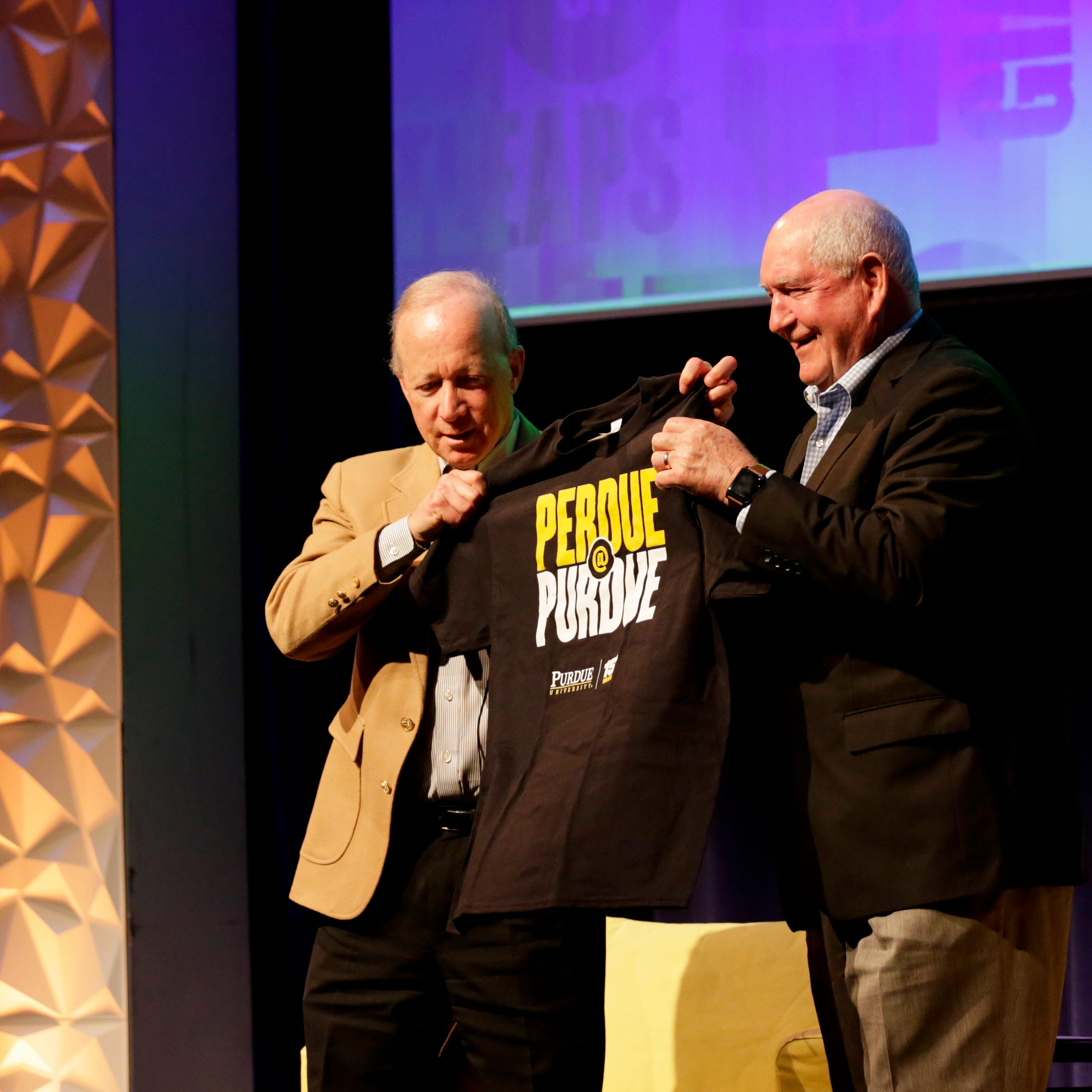 Perdue at Purdue: trade deals, immigrant labor and future of farming