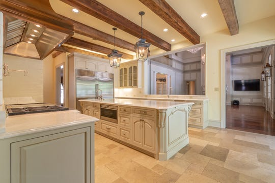 The huge kitchen can accommodate any chef's needs.