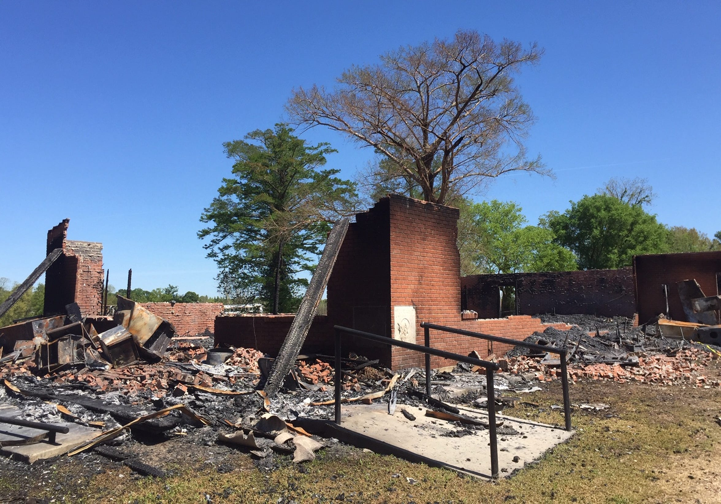 St. Mary Baptist Church in Port Barre was destroyed by a fire on March 26, 2019. Investigators are looking for possible links to a April 2 fire at nearby Greater Union Baptist Church in Opelousas.
