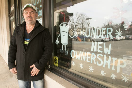 Alex Berisic, shown Tuesday, April 2, 2019, has retaken ownership of Lucas Coney Island in Brighton, which he co-founded in 2000 and sold in 2013. He and his new partner will rename it George's Coney Island.