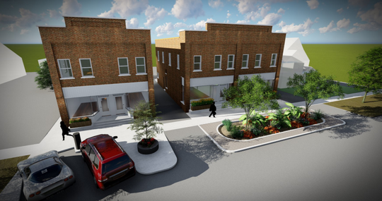 The renderings of the two buildings at 513-515 and 517-519 Ionia Street.