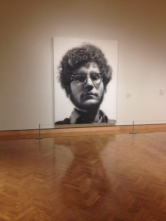 """""""Frank"""" by artist Chuck Close in the Minneapolis Institute of Art."""