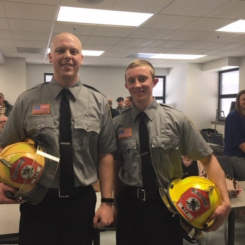 2 new Mansfield firefighters carry on family tradition
