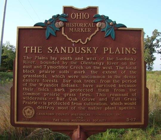A Ohio historical marker designates the Sandusky Plans, which Kensel Clutter helped provide the first color map for.