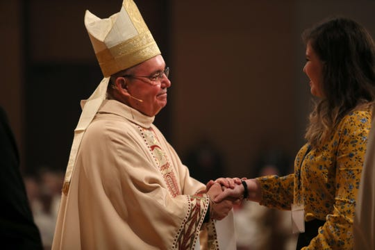 Bishop David Talley is installed in Memphis at the Cathedral of the Immaculate Conception on Tuesday, April 2, 2019.