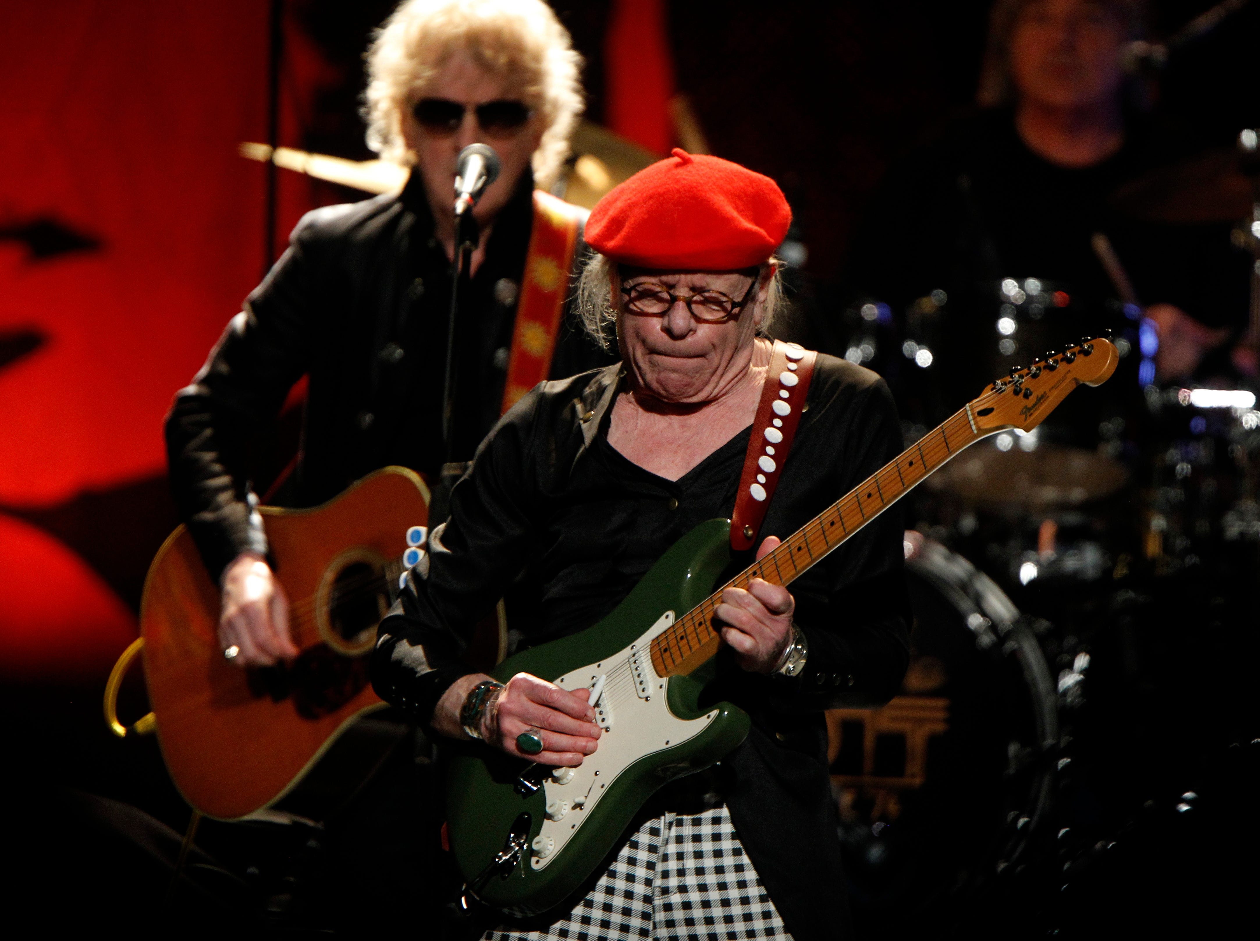 Ariel Bender, from the Mott The Hoople perform at the Miller High Life Theatre in Milwaukee.