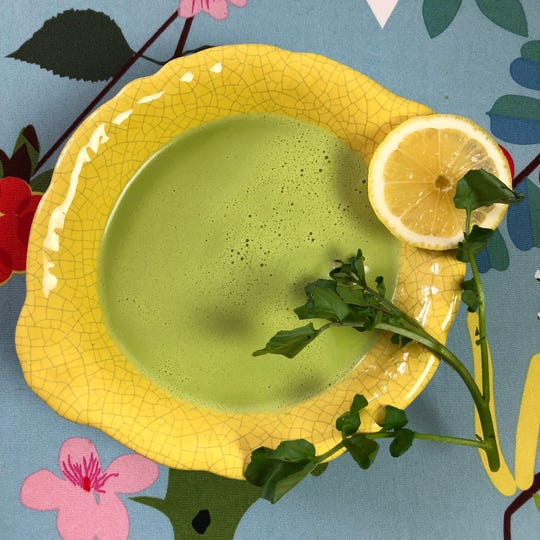 Watercress, water chestnuts and coconut milk team up in this lovely spring soup.