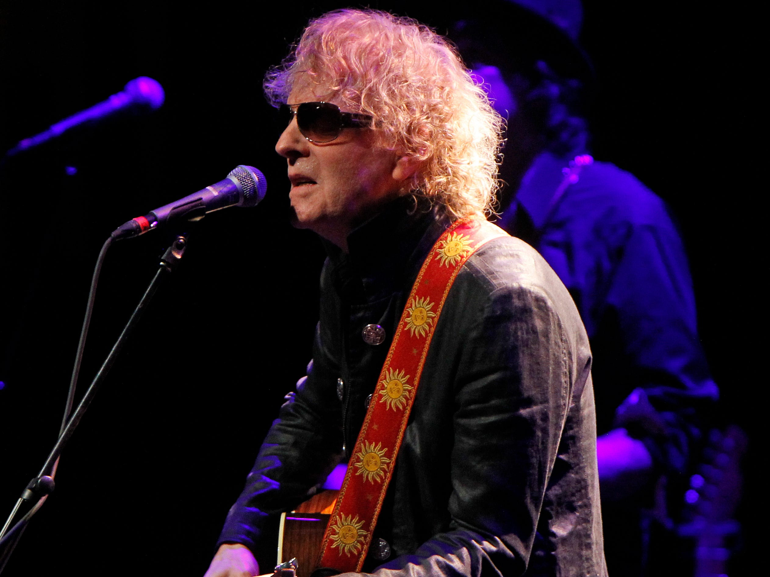 Ian Hunter, from the Mott The Hoople, perform at the Miller High Life Theatre in Milwaukee.