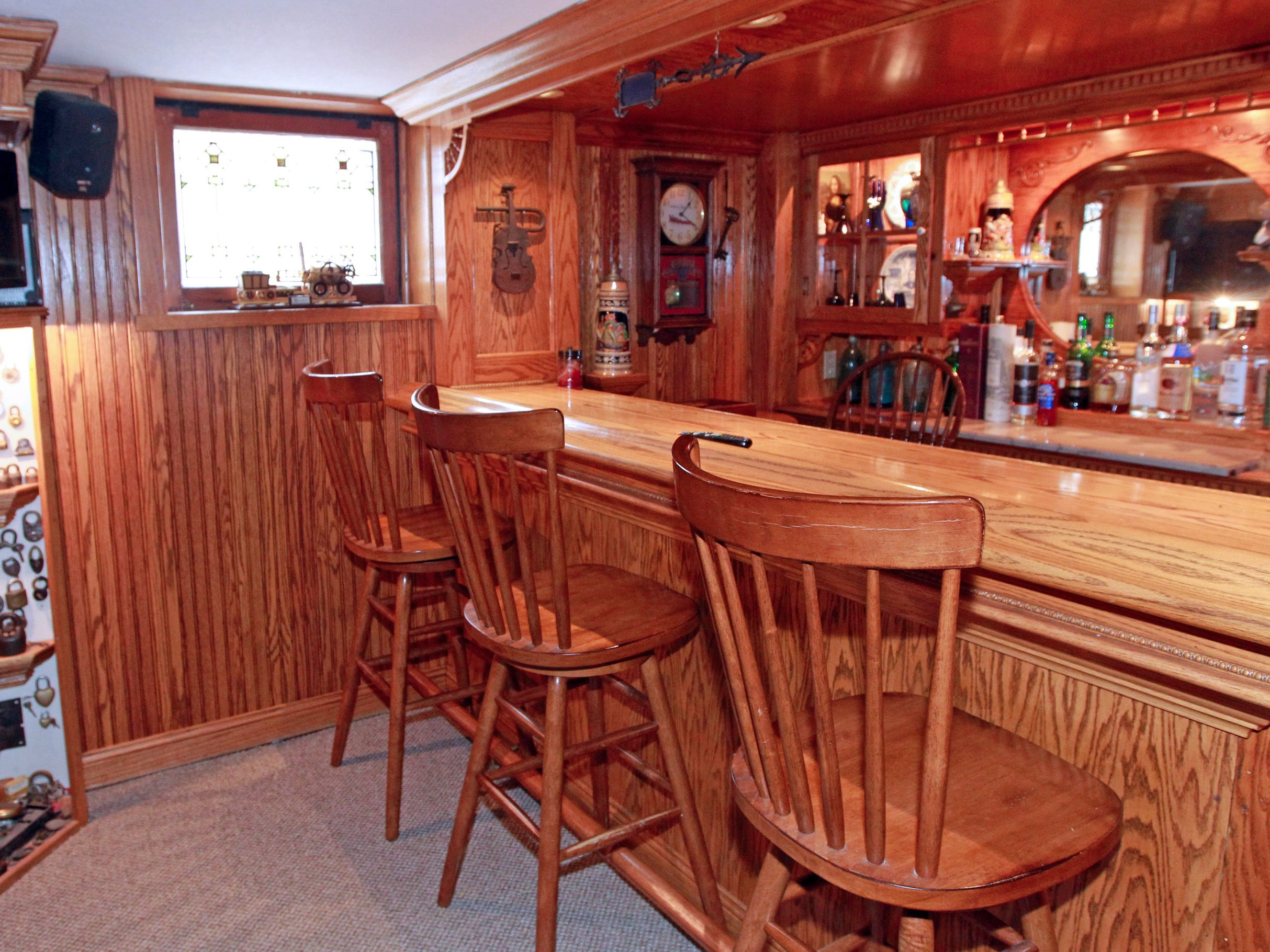 Scott Stephan built this bar in his man cave. It's become a popular place for friends and family to gather.