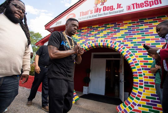 Rapper Boosie visits That's My Dog, Jr., and The Spot in Montgomery, Ala., on Tuesday April 2, 2019.