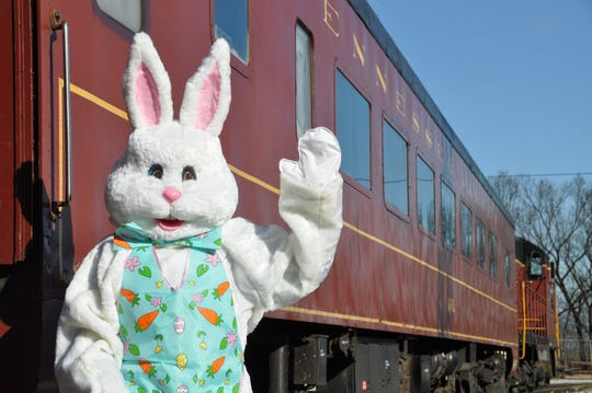 Bunny Trains, a family favorite, are available throughout the month of April.