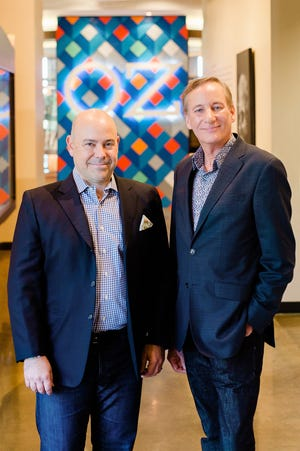 Tim Ozgener, left, OZ Arts president and CEO, and Mark Murphy, its new artistic director.
