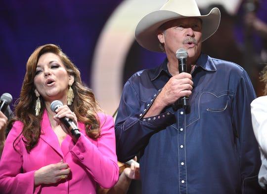 "Martina McBride and Alan Jackson join Loretta Lynn singing ""Coal Miner's Daughter"" to end the Loretta Lynn: An All-Star Birthday Celebration Concert at Bridgestone Arena Monday, April 1, 2019 in Nashville, Tenn."