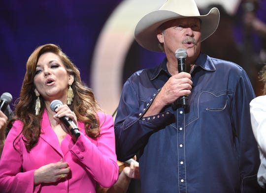 "Martina McBride and Alan Jackson join Loretta Lynn singing ""Coal Miner's Daughter"" to end the Loretta Lynn: An All-Star Birthday Celebration Concert at Bridgestone Arena Monday, April 1, 2019 in Nashville, Tenn."