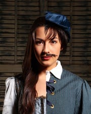 Cailen Fu makes her Nashville Rep debut as Viola De Lesseps, the aspiring actress who disguises herself as a man to audition for Will Shakespeare's play.
