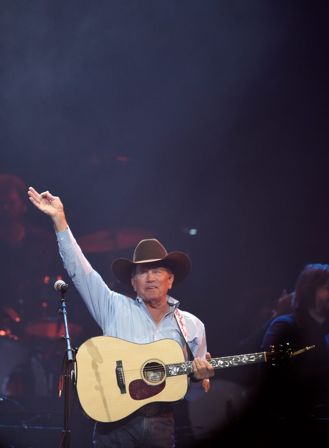 George Strait performs during the Loretta Lynn: An All-Star Birthday Celebration Concert at Bridgestone Arena on April 1, 2019, in Nashville.