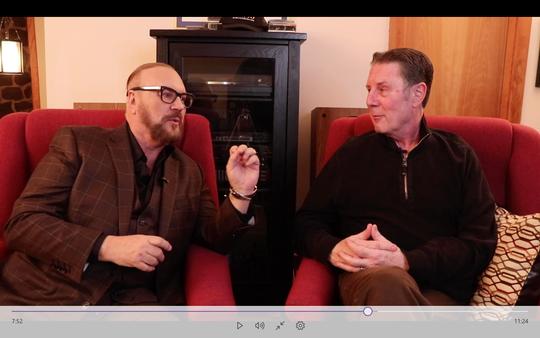 Desmond Child, left, talks to Bart Herbison about songwriting.