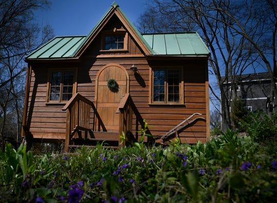 Nashville's most wish-listed Airbnb, which is a  tiny house/cottage in South Nashville is owned by Jonathan and Rebecca Moody and sits in their backyard. Photographed  Thursday, March 28, 2019 in Nashville, Tenn.