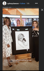Nashville artist Sydney Clawson's work became one of Kathie Lee Gifford and Hoda Kotb's favorite things this week.