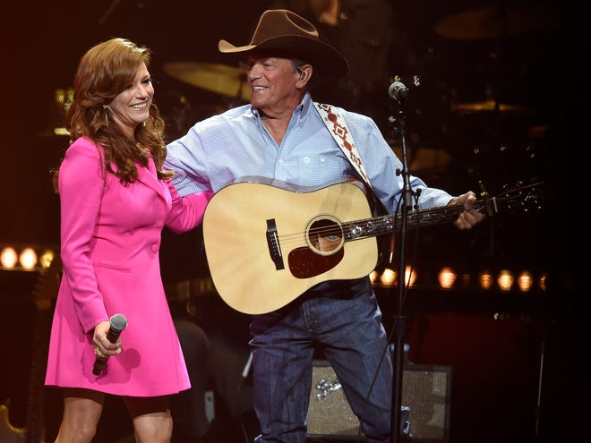 Martina McBride, shown singing with George Strait on April 1 in Nashville for Loretta Lynn's birthday party, will perform for the third time in Abilene when she comes to town Aug. 29 for the annual West Texas Rehabilitation Center Summer Dinner Show.