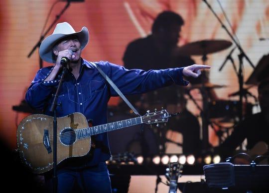 Alan Jackson performs during the Loretta Lynn: An All-Star Birthday Celebration Concert at Bridgestone Arena Monday, April 1, 2019 in Nashville, Tenn.