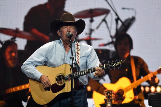 George Strait performs during the Loretta Lynn: An All-Star Birthday Celebration Concert at Bridgestone Arena Monday, April 1, 2019 in Nashville, Tenn.