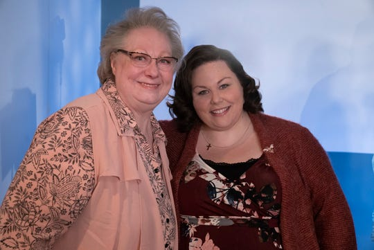 "Chrissy Metz, right, places the role of Joyce Smith, left, in the movie ""Breakthrough."""