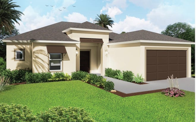 An artist's conception of the Mariposa, a new design offered at Arrowhead Reserve in Immokalee.