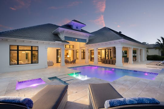 The Sophia III model at Quail West has an expansive outdoor living area, both under-roof and in-sun.