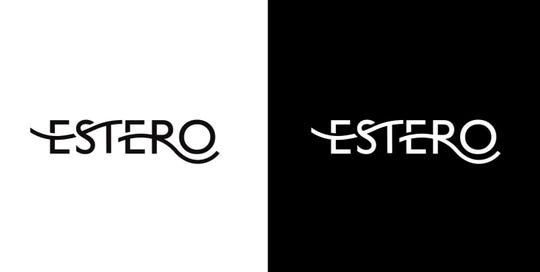 An option for Estero branding logos. The village hired North Carolina company vitalink to develop branding for Estero.