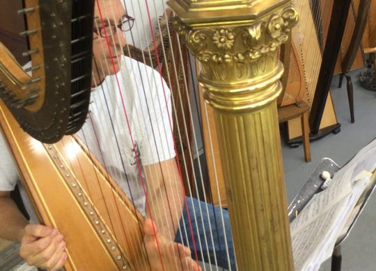 Dickie Fleisher, founder of Harpfest at a recent rehearsal