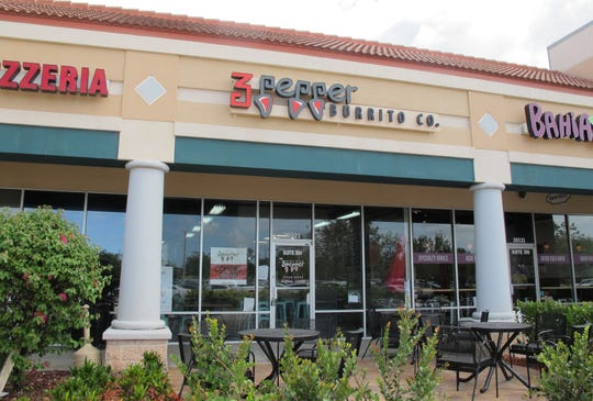 3 Pepper Burrito Co. opened its Estero location March 25 in Shoppes of Grande Oak at 20321 Grande Oak Shoppes Blvd. near the northeast corner of Ben Hill Griffin Parkway and Corkscrew Road.
