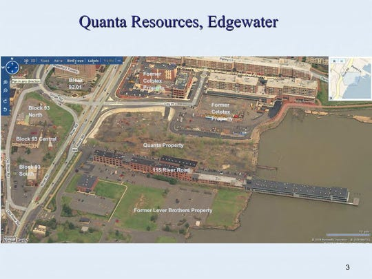 An aerial view of the Quanta Superfund site several years before remediation began.