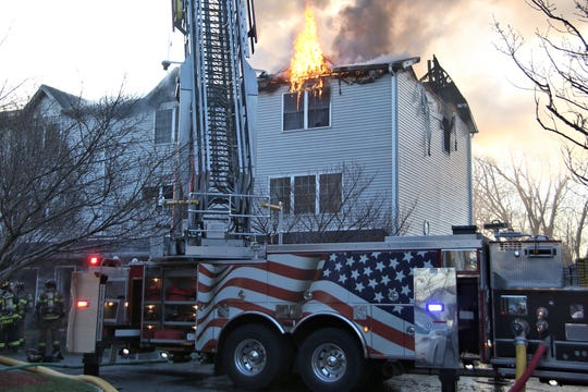 Lodi apartment fire 124 Home Place, Tuesday, April 2, 2019.