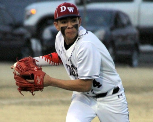 Junior short stop Adrian Chavez put in a little work from the pitching rubber last Friday.