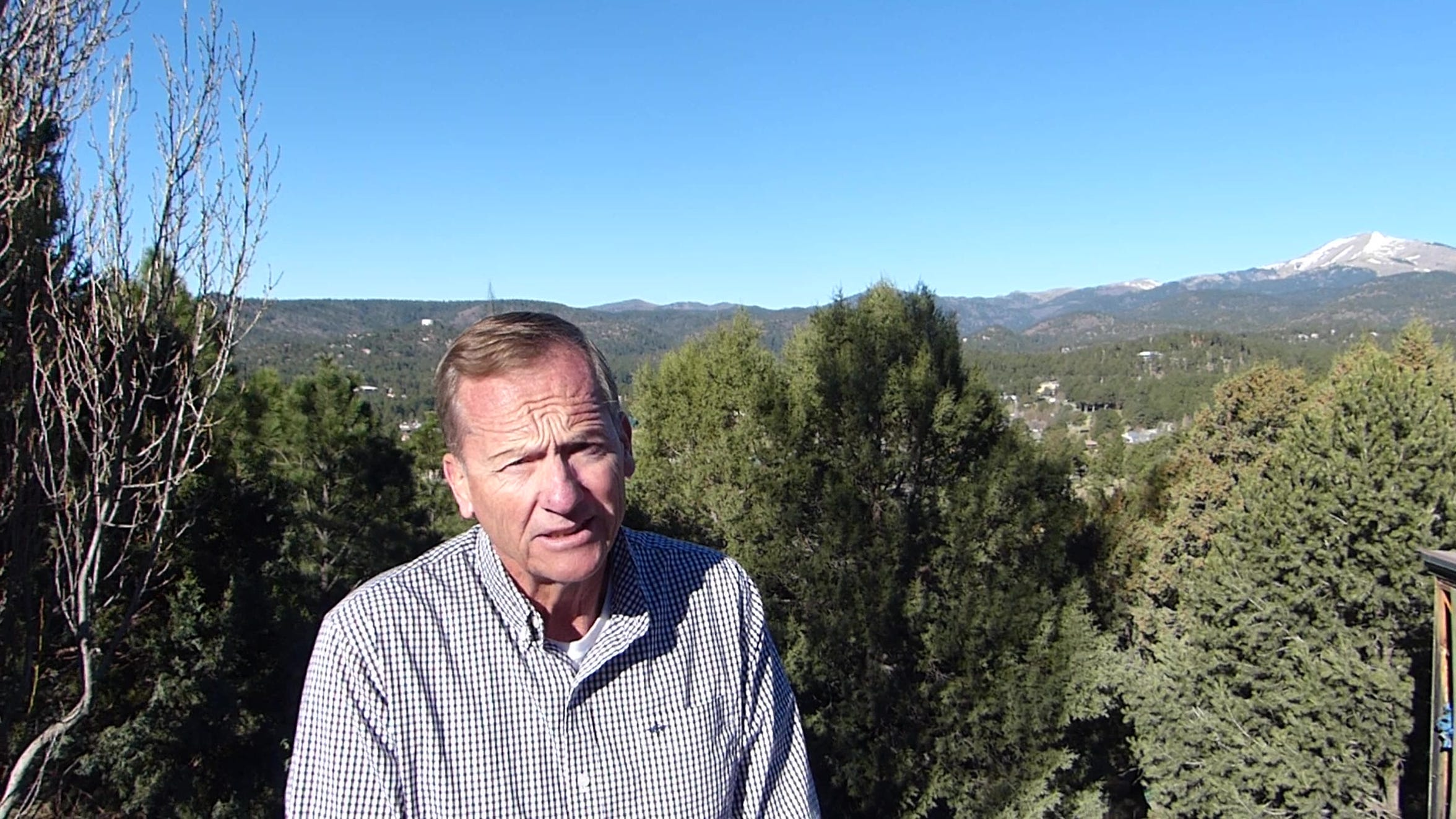 """Wolfgang Born, former Ruidoso police chief, lost a house he built with the help of friends to the little Bear Fire just four months after moving into the """"home of my dreams."""""""