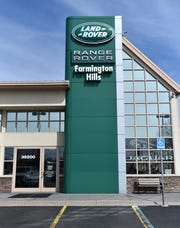Jaguar and Land Rover of Farmington Hills' current location at 38200 Grand River Avenue. The auto dealership will soon build a new showroom in Novi.