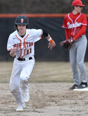 Brendan Harrity singled in both of Brighton's runs in the bottom of the eighth inning, giving the Bulldogs a 2-1 victory over Linden.