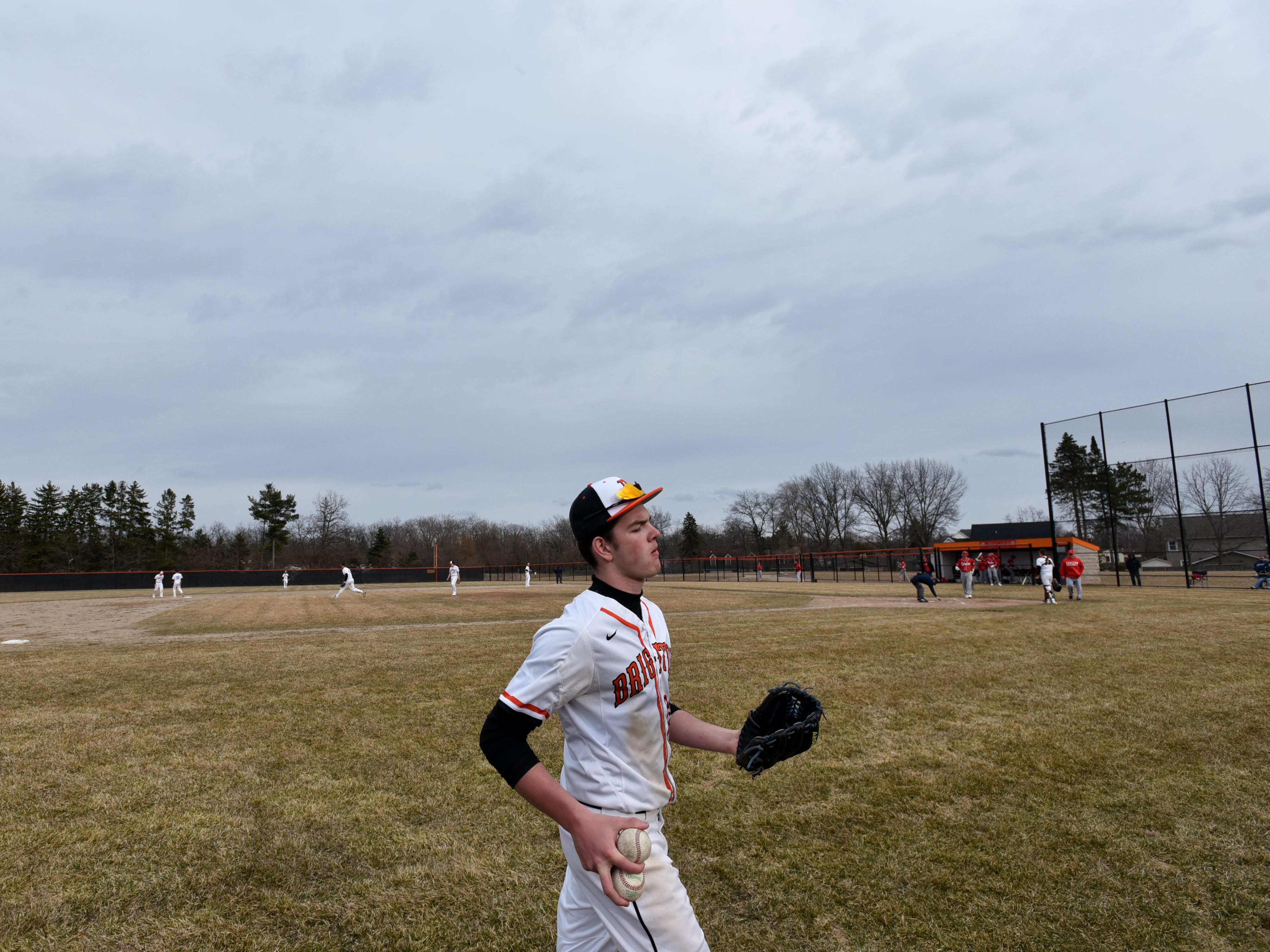 Brighton's April 2nd home game was played under sunny skies - and then clouds.