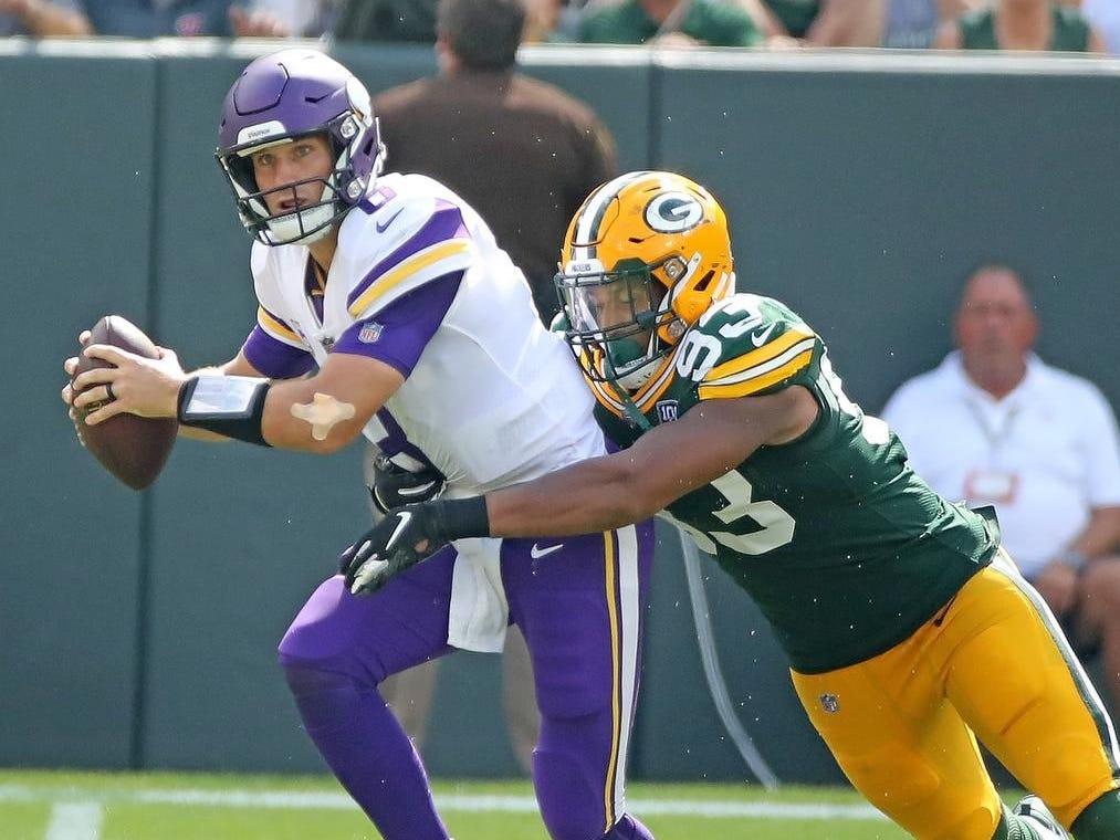 Week 2: Vikings at Packers, noon CT Sunday, Sept. 15, Lambeau Field (Fox)