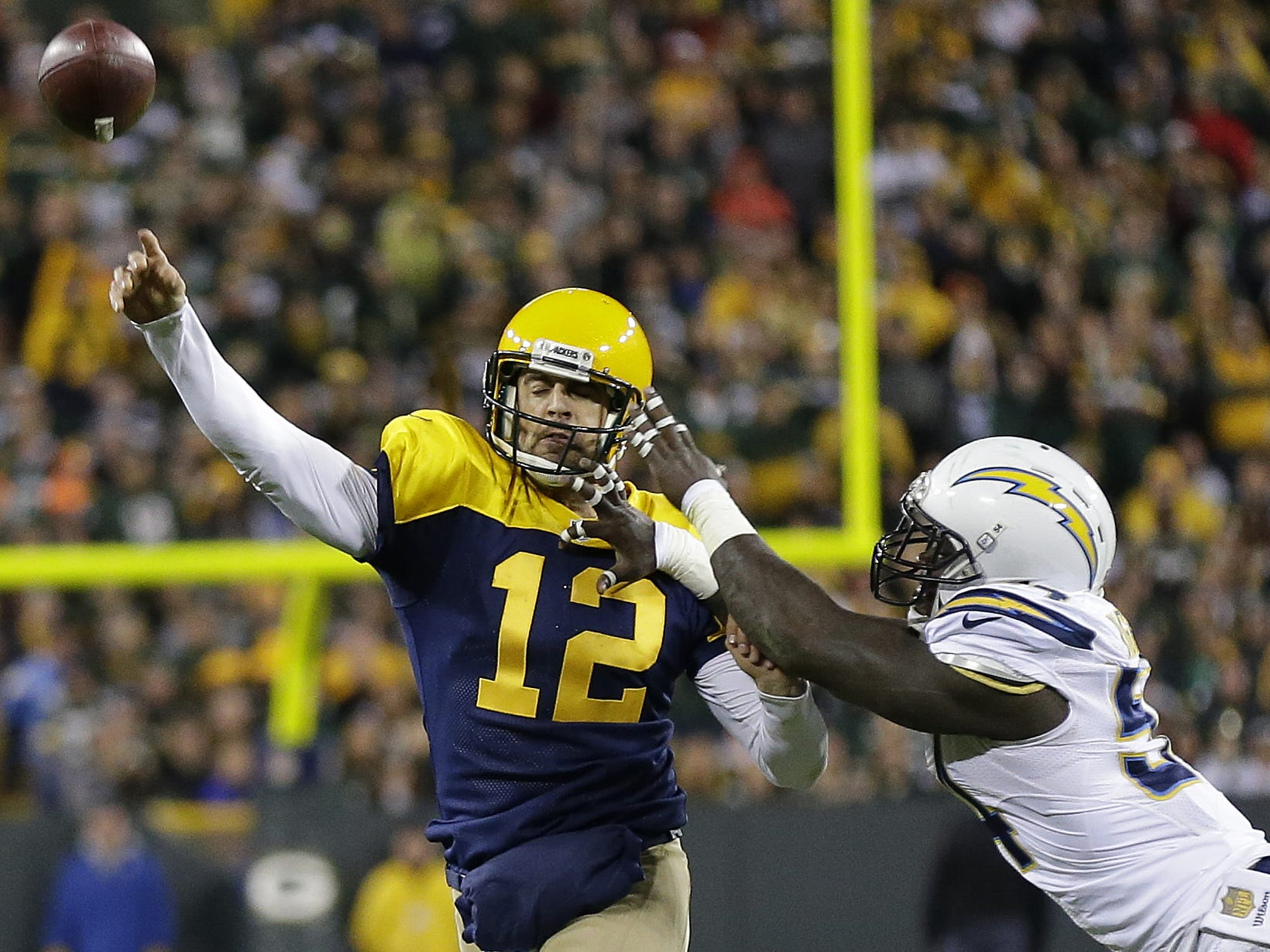 Week 9: Packers at Chargers, 3:25 p.m. CT Sunday Nov. 3, Dignity Health Sports Park (CBS)