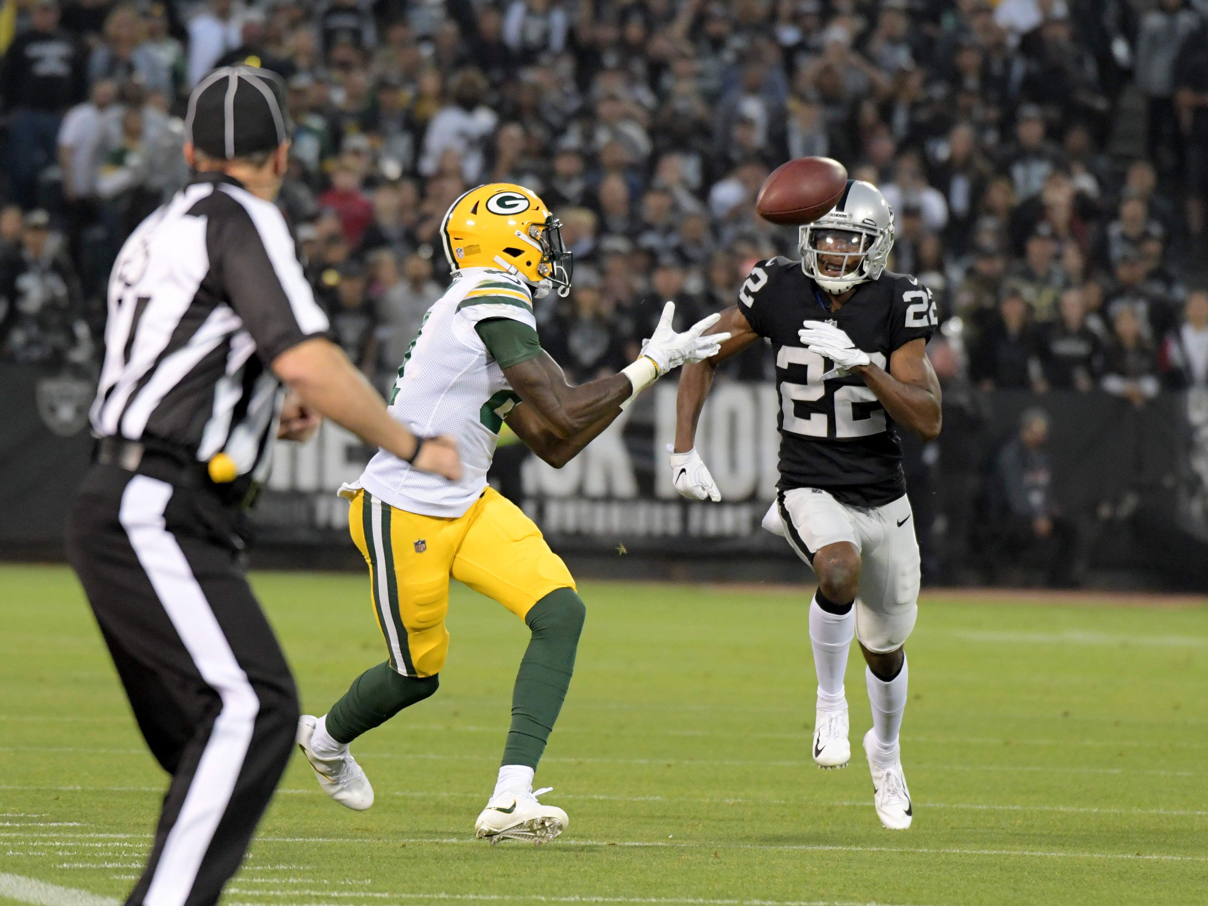 Week 7: Raiders at Packers, noon CT Sunday, Oct. 20, Lambeau Field (CBS)