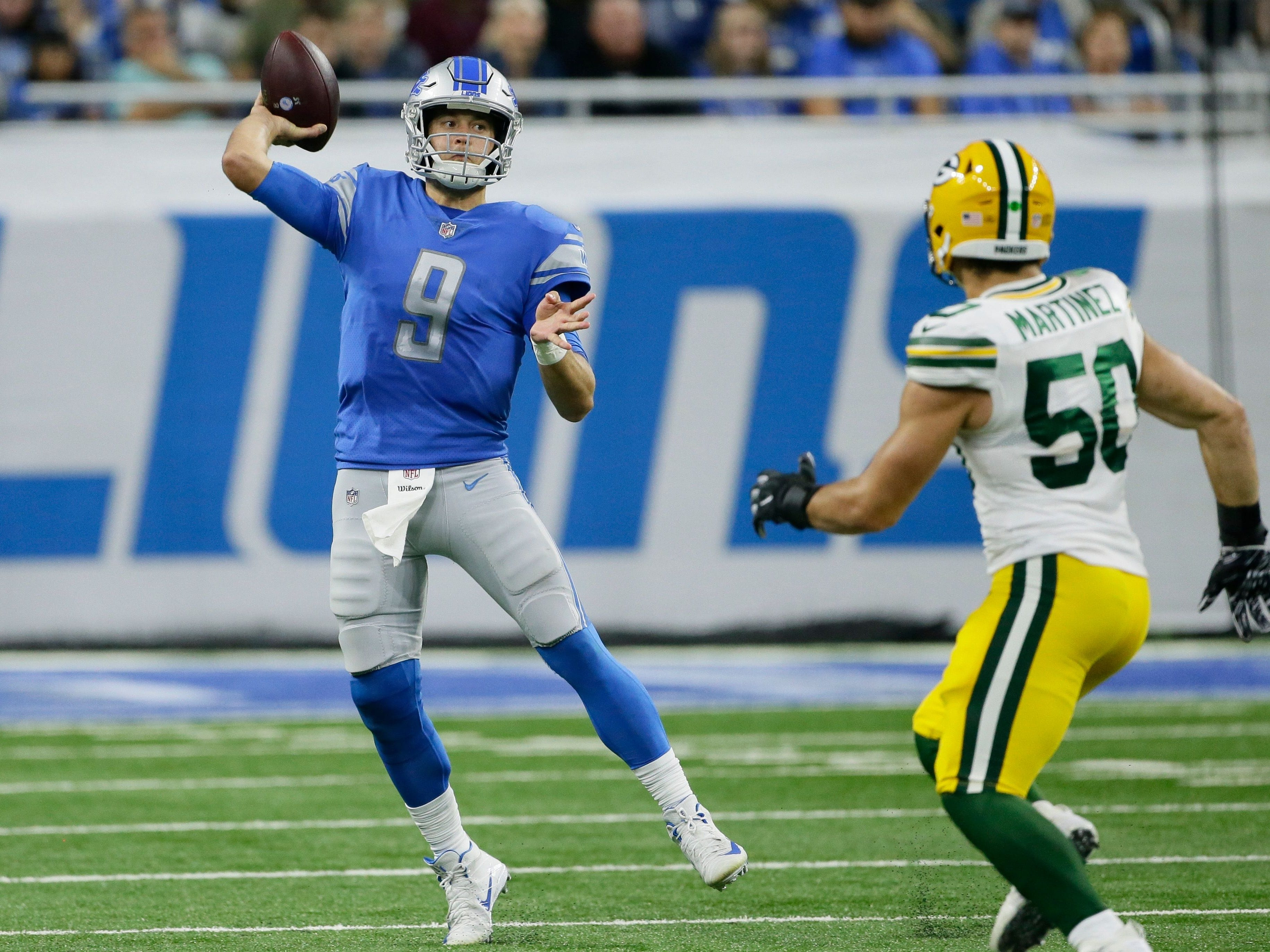 Week 17: Packers at Lions, noon CT Sunday, Dec. 29, Ford Field (Fox)