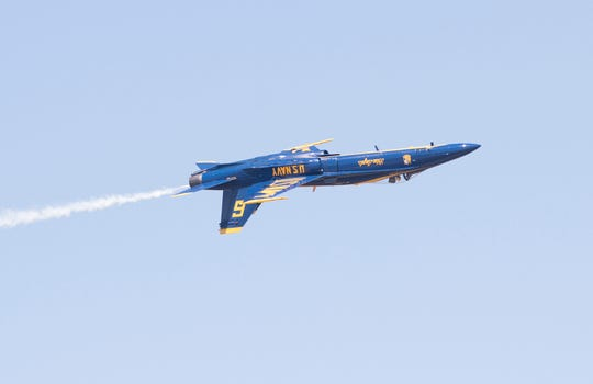 First Blue Angels practice of the 2019 season at Naval Air Station Pensacola on Tuesday, April 2, 2019.
